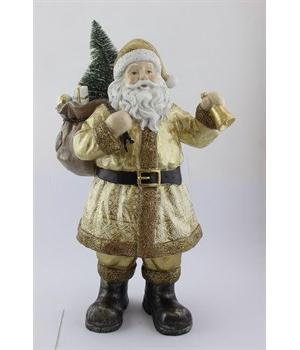 218-153 Фигурка «Дед Мороз с ёлочкой» 29х19х52см