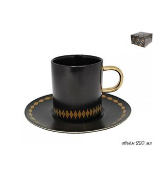 133-005 Чашка с блюдцем 220мл TEKITO в под.уп.(х36)Фарфор