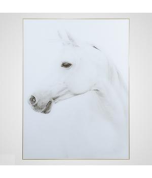 """ПАННО Интерьерное Панно """"White Horse"""" 80х60 см"""