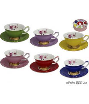 105-096 Чайный набор 12пр. РАДУГА в под.уп.(х6)Фарфор