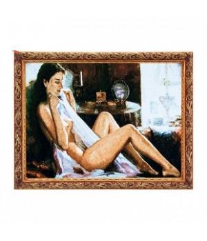 "R220-40х80 Картина из гобелена ""Обнаженная девушка""  (45х85)"