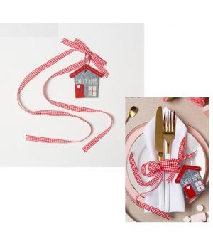 "Декративная лента для салфетки ""Sweet home"" 7 см, 100% п/э, фетр   4348555"