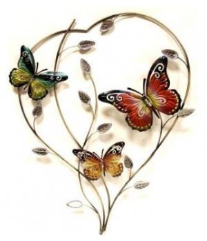 """Декор настен """"Бабочки"""" (77*53*5см) HJ-49829"""