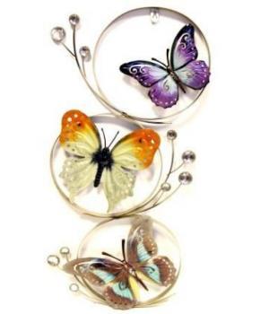 """Декор настен """"Бабочки"""" (70*30*4см) HJ-49832"""