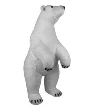 """111-124 Фигура """"Белый медведь"""" высота 62см, 34х28см"""